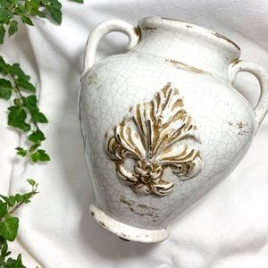 vintage rustic bohemian ceramic vase